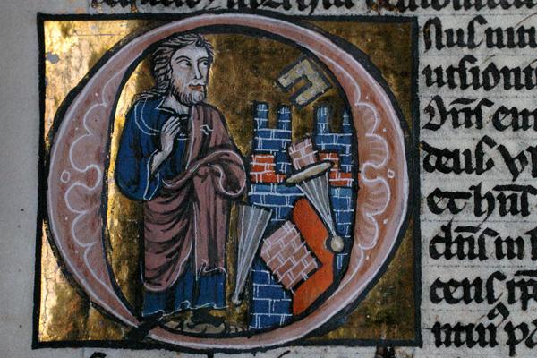 那鸿与尼尼微的陷落(1220年代的《圣经》插图)