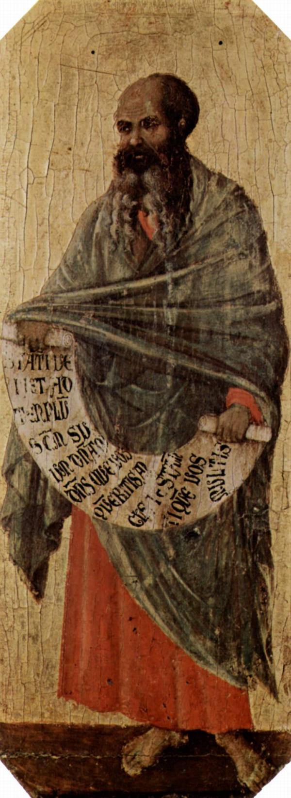 Duccio di Buoninsegna绘玛拉基(约1310-1311)