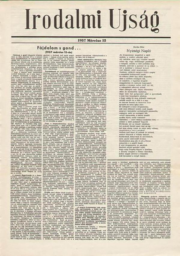 匈牙利流亡知识分子刊物《文学消息》