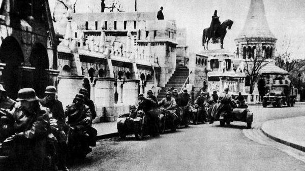 1944年纳粹德国军队占领布达佩斯
