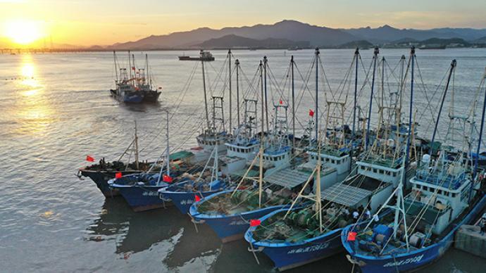 """臺風""""黑格比""""逼近,浙南沿海水域撤離游客4481人"""