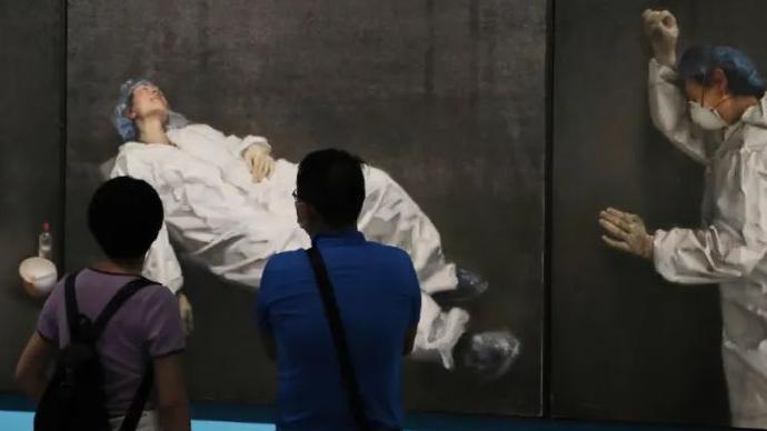 """国博""""众志成城""""特展:从艺术名家到小学生笔下的抗疫记录"""