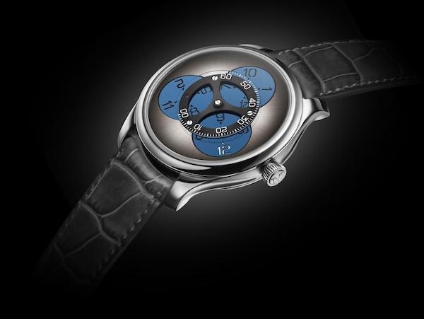 亨利慕时勇创者Flying Hours蓝色夜光腕表