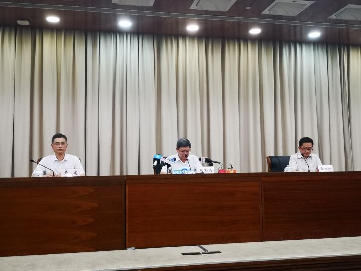 杭州市政府发布会现场。