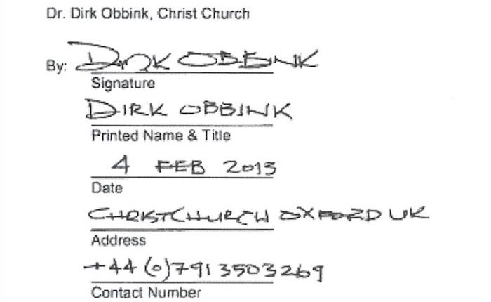 """欧宾克的""""卖家签名"""",来源:农布利博客"""