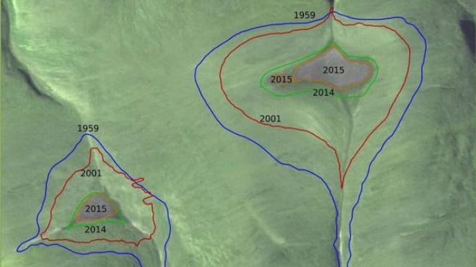 图像显示加拿大两巨大冰盖完全消失,或将对环境产生巨大影响