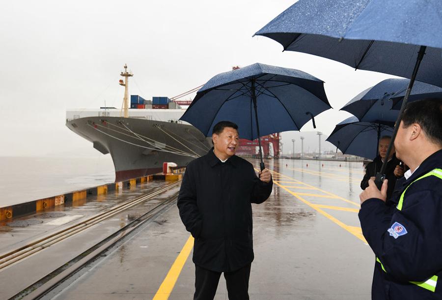 2020年3月29日,習近平在浙江考察調研。新華社記者 申宏 攝