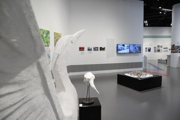 """""""社区枢纽站""""项目在展览现场的呈现"""