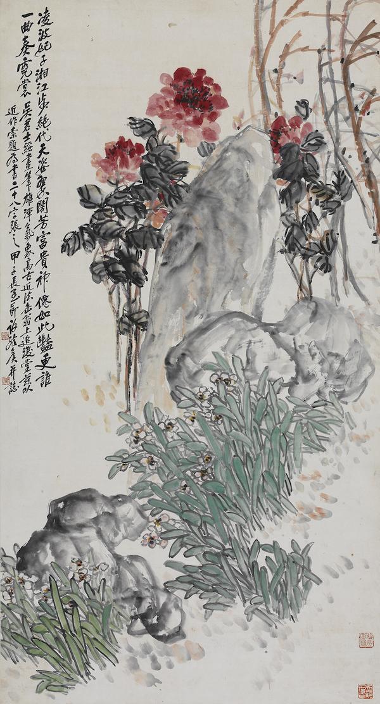 吴茀之《富贵神仙》1924年(吴茀之纪念馆藏)