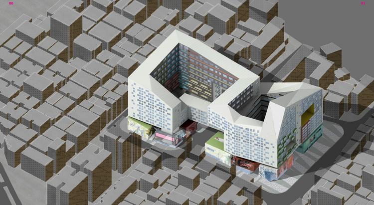 深证新洲村,高度混合的居住和商业街区,都市实践建筑设计事务所