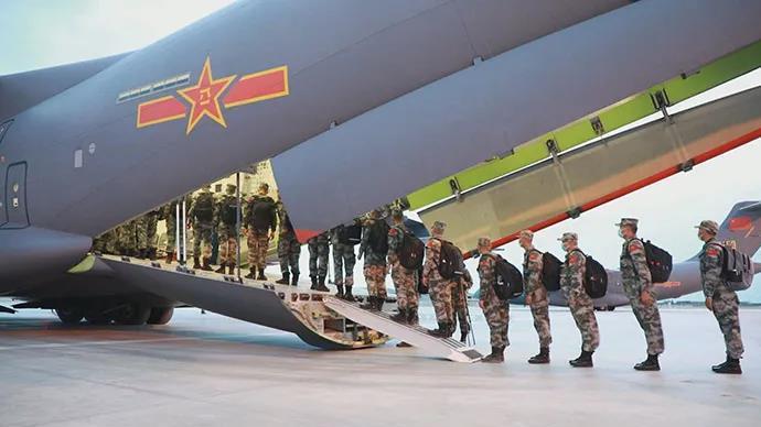 """我軍赴俄羅斯參加""""國際軍事比賽-2020""""部隊全部抵達"""