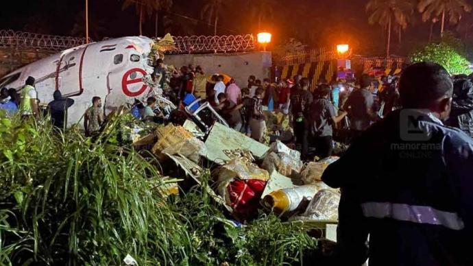 印度一架载191人波音客机降落时冲出跑道,已致17人遇难