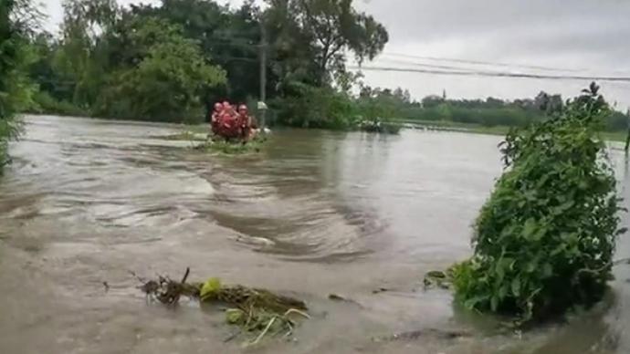 廣漢啟動防汛II級響應,消防全員參加救援后發現營房被淹