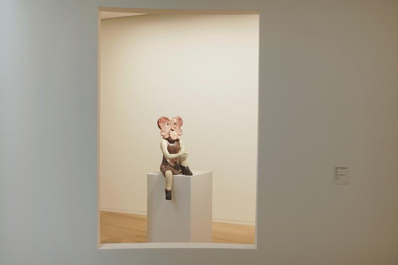 克拉拉·克莉斯塔洛娃《桃红》粗釉陶艺2017