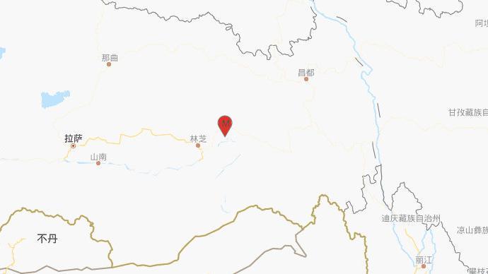 西藏林芝市巴宜區深夜發生4.4級地震,震源深度6千米