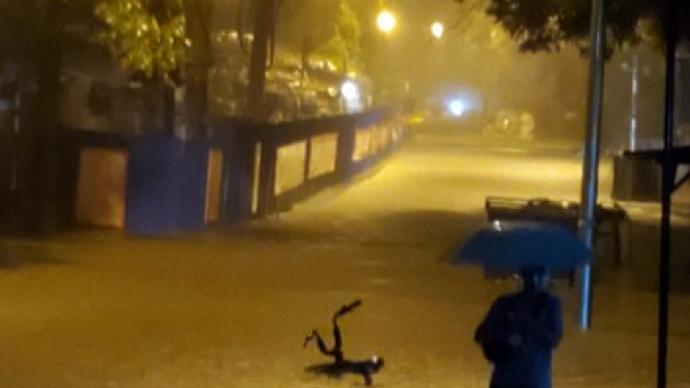 北京市水文總站13日凌晨發布洪水橙色預警