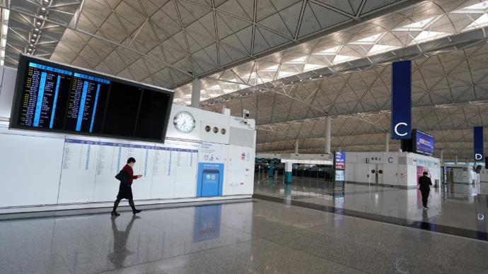 香港機場管理局:內地出發旅客未來兩個月可在香港轉機或過境