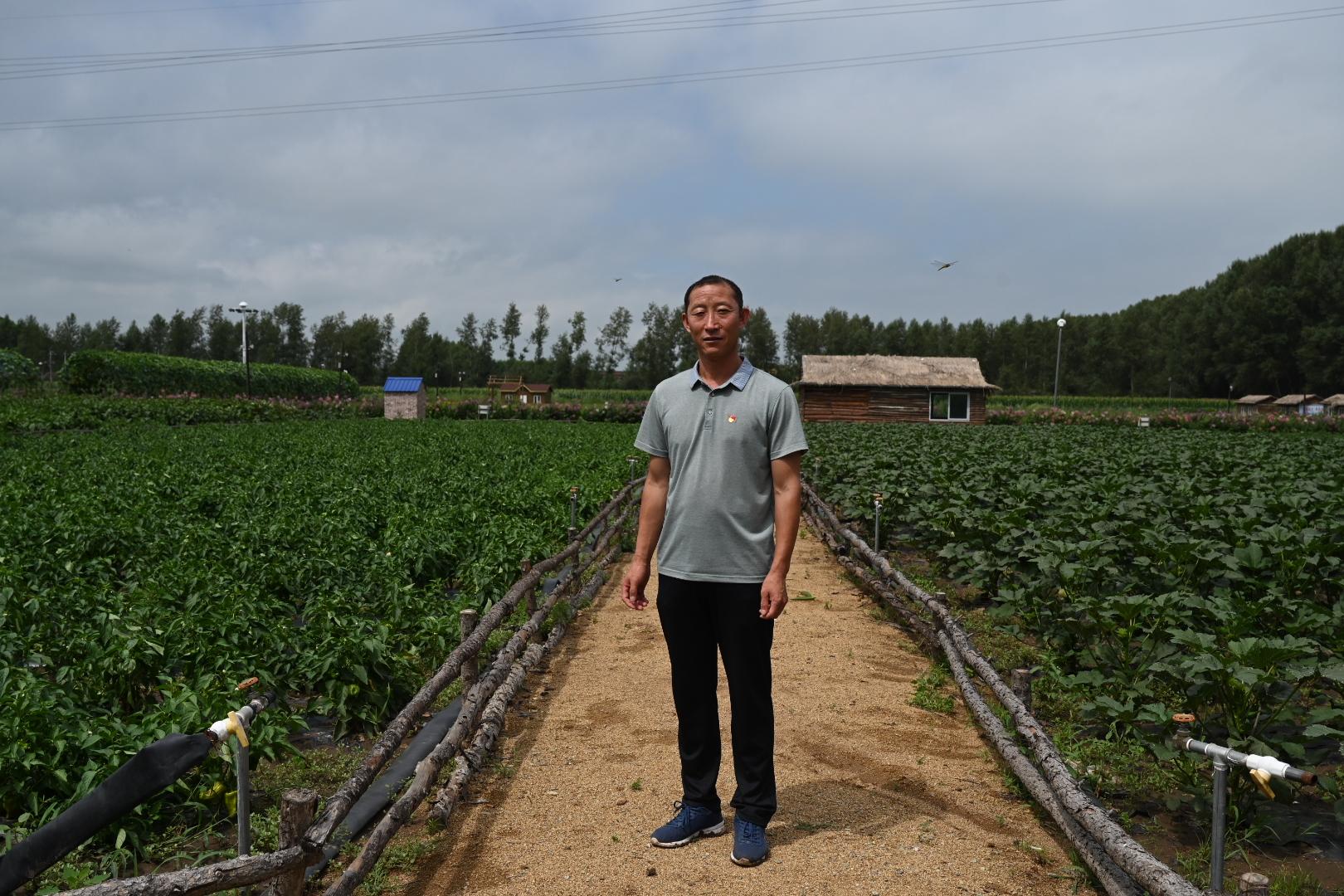 白双龙在开心农场 澎湃新闻记者 孙湛 图