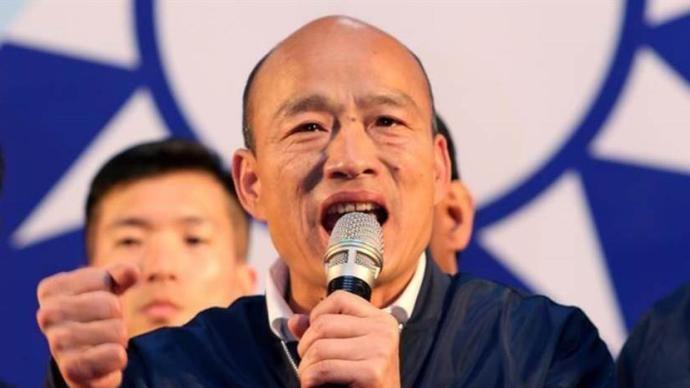 高雄市长补选前夜,韩国瑜为国民党高雄市长候选人李眉蓁站台
