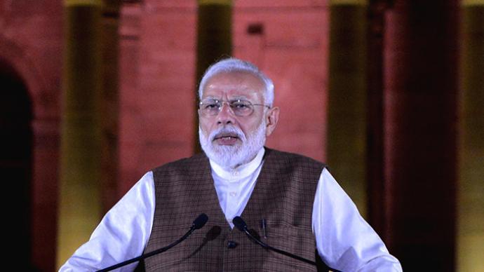 莫迪发表独立日致辞:印度正研制新冠疫苗,获准后将全速投产