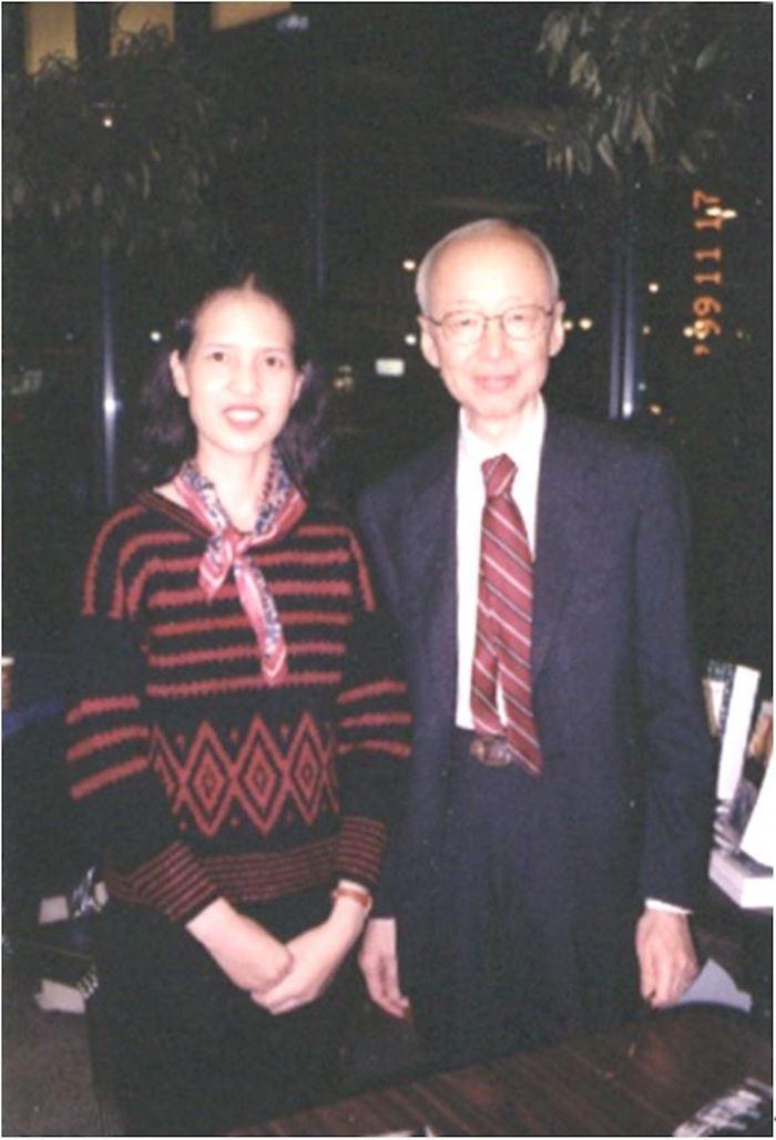 作者与段义孚先生的合影,1999年