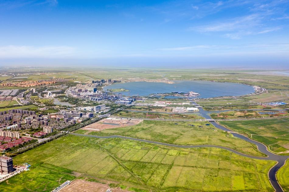 8月20日,上海自贸试验区临港新片区揭牌满一周年。 本文图片均为澎湃新闻记者 曹俊杰 图