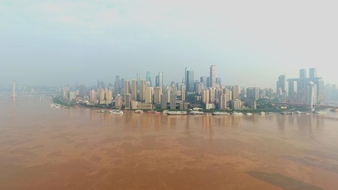 """""""長江2020年第5號洪水""""洪峰正通過重慶中心城區"""
