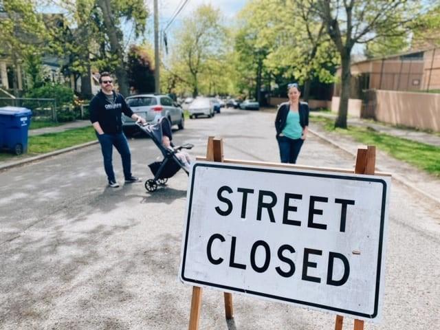 西雅图的Stay Health Street计划,疫情期间禁止机动车通行的20英里马路将被划为永久慢行区。图片来自西雅图交通局网站