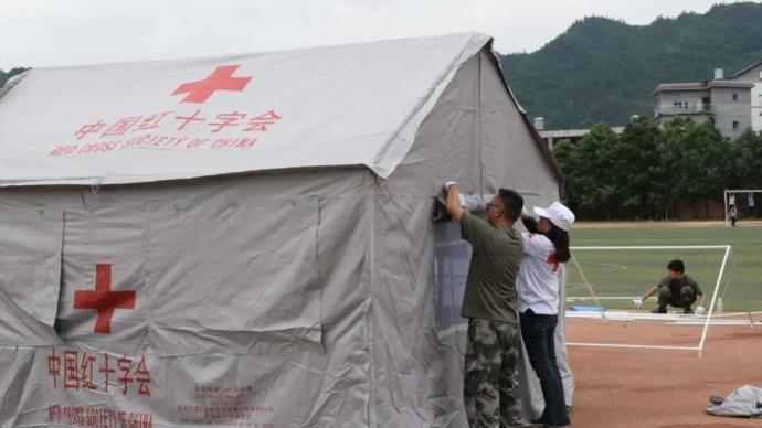 中國紅十字會總會向遭受洪災5省市調撥救災物資