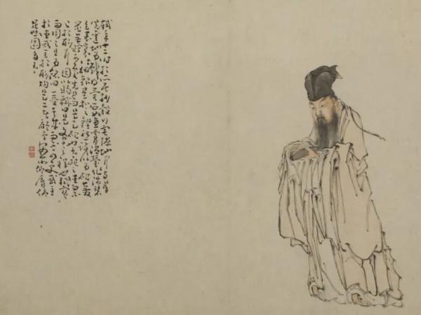 清 黄慎 《东坡玩砚图页》