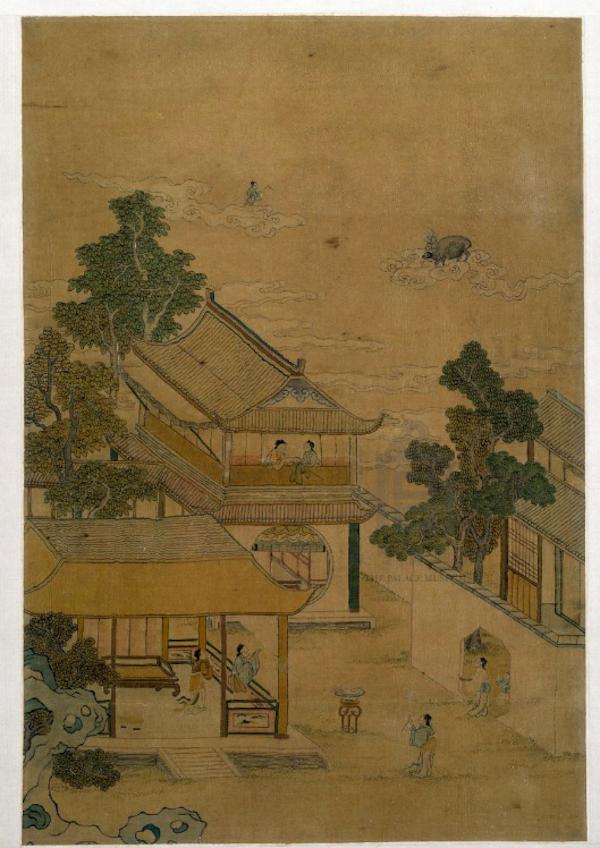 清 缂丝 《七夕图》 故宫博物院藏