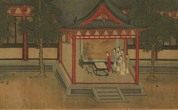 宋 《七夕乞巧图》 (局部) 台北故宫博物院藏