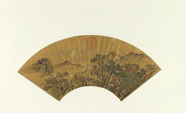 明唐寅 《画乞巧图》扇面 台北故宫博物院藏