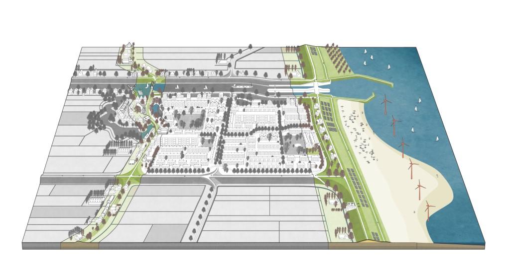 荷兰堤防模型二:利用技术创新加强传统堤防。图片来源:http://dutchdikes.net/future/