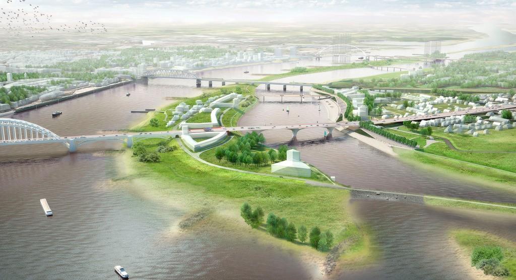 """奈梅亨城市瓦尔河""""还河于地""""项目。图片来源:https://worldlandscapearchitect.com/"""