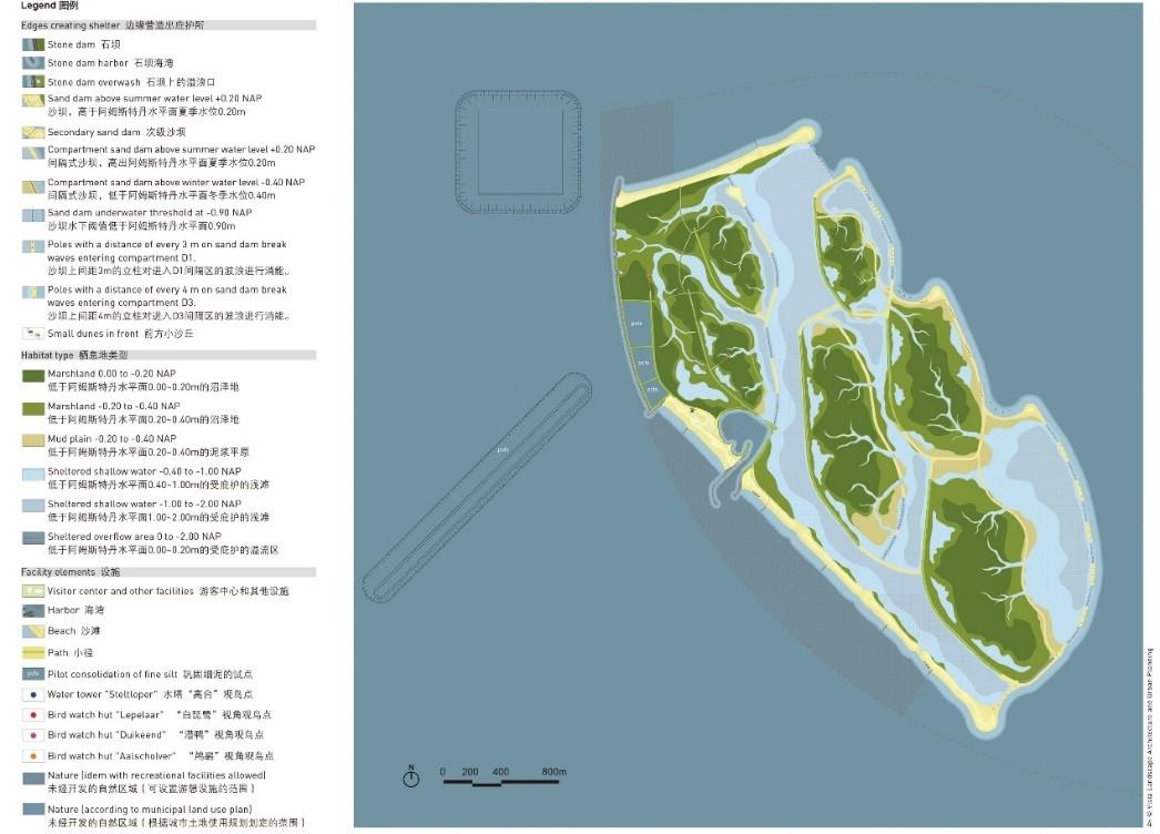 马尔肯湖-瓦登海群岛中的间隔式水坝和沼泽地。图片来源:https://pure.tudelft.nl/portal/files/71446190/MARKER_WADDEN_THE_NETHERLANDS_A_BUILDING_WITH_NATURE_EXPLORATION.pdf