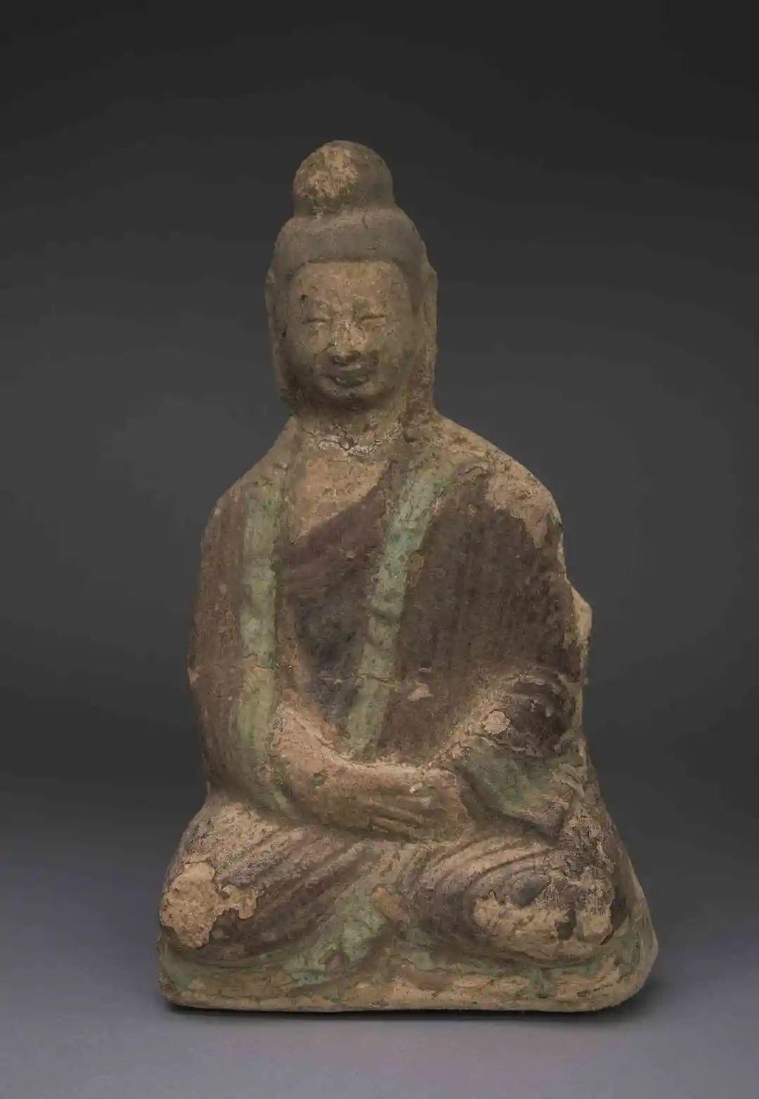 影塑佛坐像 北魏早期