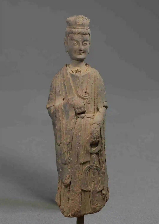 泥塑菩萨立像 北魏晚期