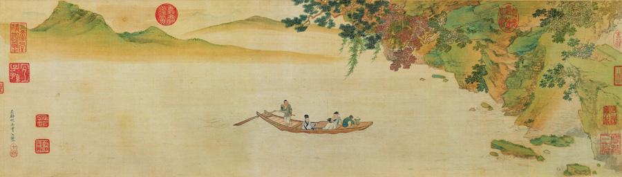 仇英《赤壁图》辽宁省博物馆