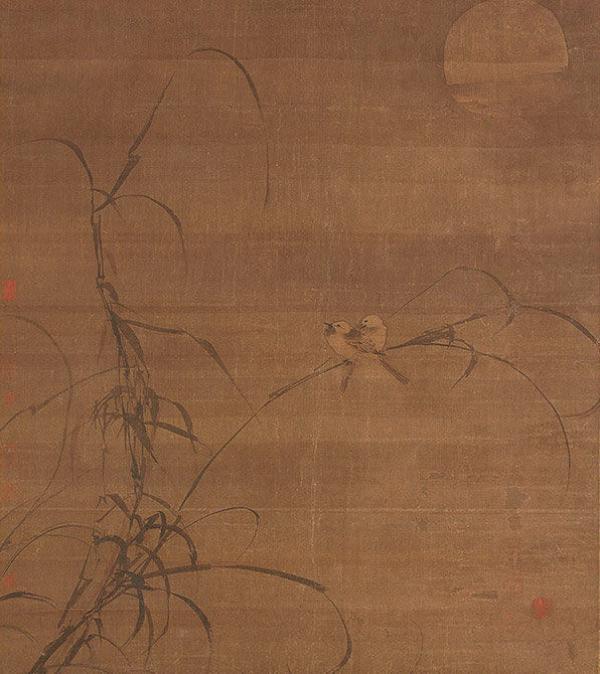 明 林良《月下芦雀图》南京市博物总馆藏