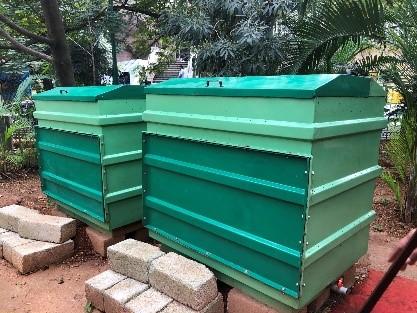 班加罗尔市政府办公区里的密封式堆肥设施