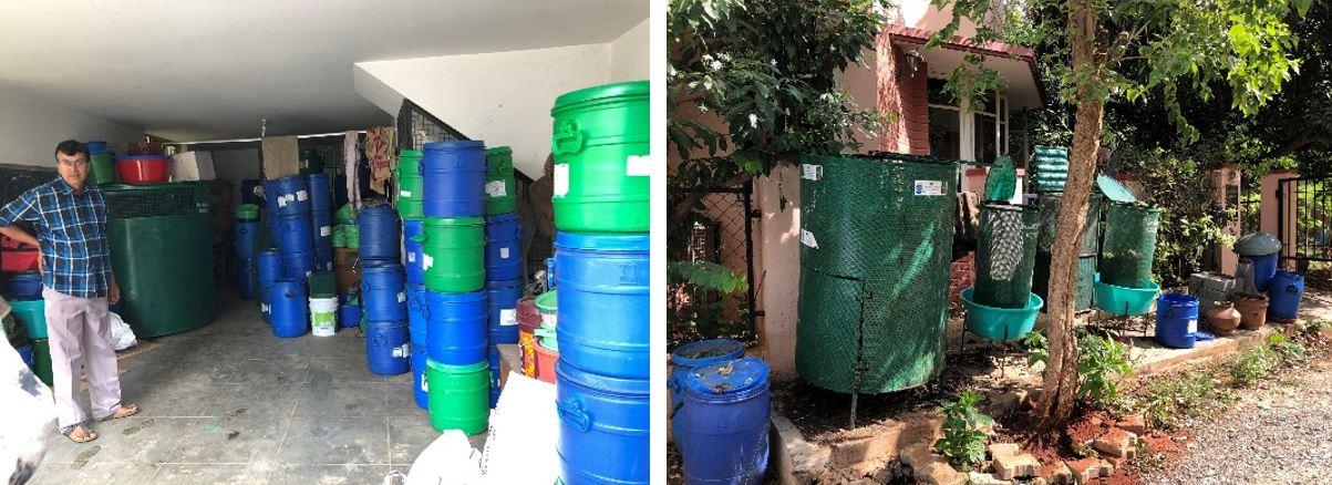 堆肥专家Vasuki的堆肥公司和家庭堆肥设施展示