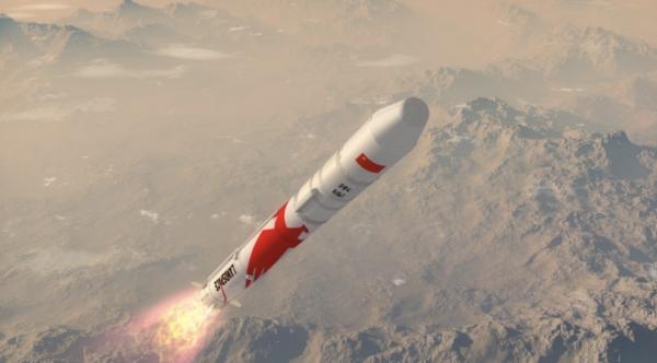 朱雀二号液氧甲烷运载火箭暗示图