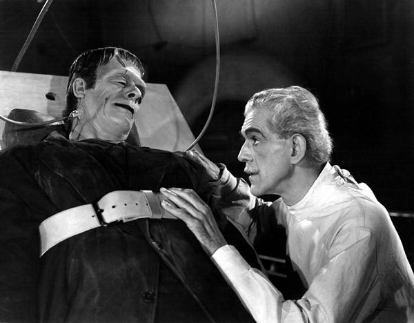 根据《弗兰肯斯坦》改编的电影《科学怪人》(1931)