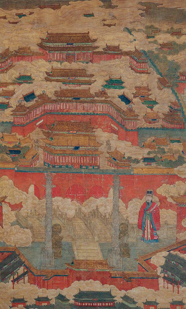从国家博物院收藏的这件《明宫城图》可以大致知道明代的紫禁城结构