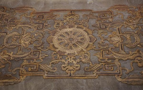 正楼展厅宁寿宫区展出的漆纱