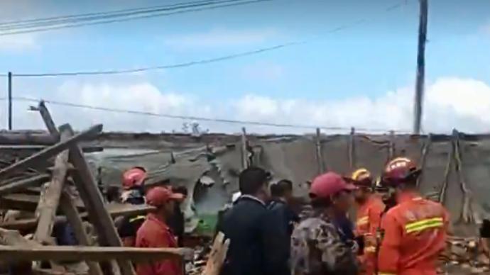 吉林松原一農村宴席大廳坍塌,鎮政府:傷者已送醫