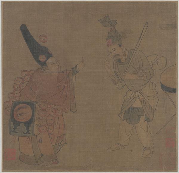 图13 南宋,佚名,《眼药酸》,册页,绢本设色,23.8x24.5厘米,北京故宫博物院藏。