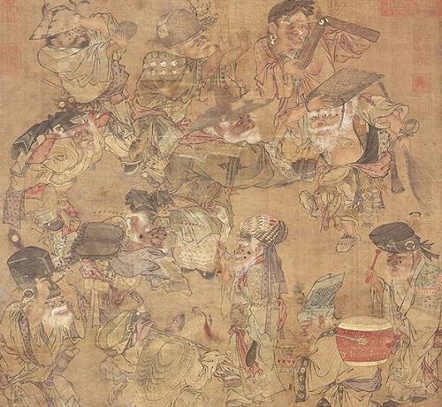 图14南宋,佚名,《大傩图》,轴,绢本设色,67.4x59.2厘米,北京故宫博物院藏。
