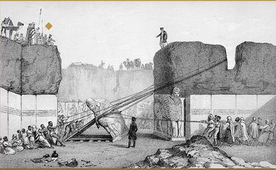 《考古学与史前文明》内页插图 尼尼微古城中亚述王宫